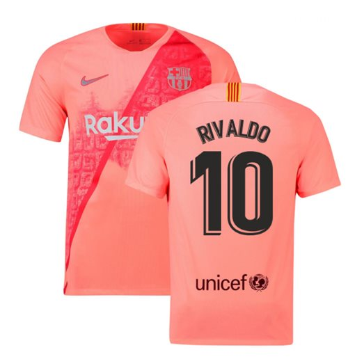 2018-2019 Barcelona Third Nike Football Shirt (Rivaldo 10)