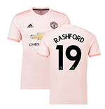 2018-2019 Man Utd Adidas Away Football Shirt (Rashford 19)