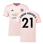 2018-2019 Man Utd Adidas Away Football Shirt (Ander Herrera 21)