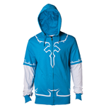 NINTENDO: The Legend Of Zelda Blue Hooded sweatshirt  LINK'S Breath Of The Wild Outfit (Unisex)