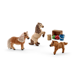 SCHLEICH Horse Club Miniature Shetland Pony Family Toy Figures
