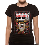 Looney Tunes - Taz Naughty - Women Fitted T-shirt Black