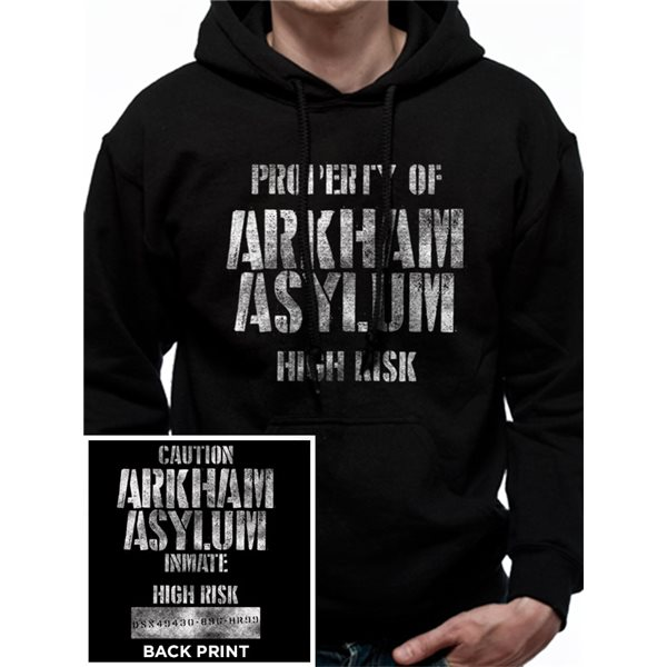 Batman - Arkham Asylum - Unisex Hooded Sweatshirt Black