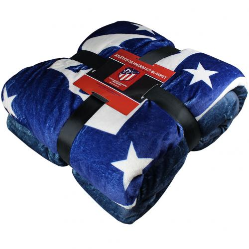 Atletico Madrid F.C. Sherpa Fleece Blanket