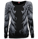 Seraphim - Allover Baggy Top  Black