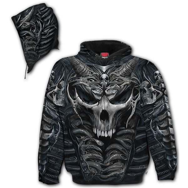 Skull Armour - Allover Hoody Black