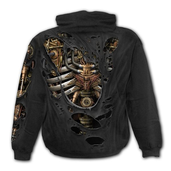 Steam Punk Ripped - Hoody Black