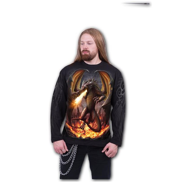Draco Unleashed - Longsleeve T-Shirt Black