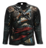 Assassins Creed Iv Black Flag - Allover Longsleeve T-Shirt Black