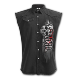 Reaper Rifle - Sleeveless Stone Washed Worker Black