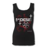 Coven - Bitchcraft - Crochet Collar Ribbed Vest