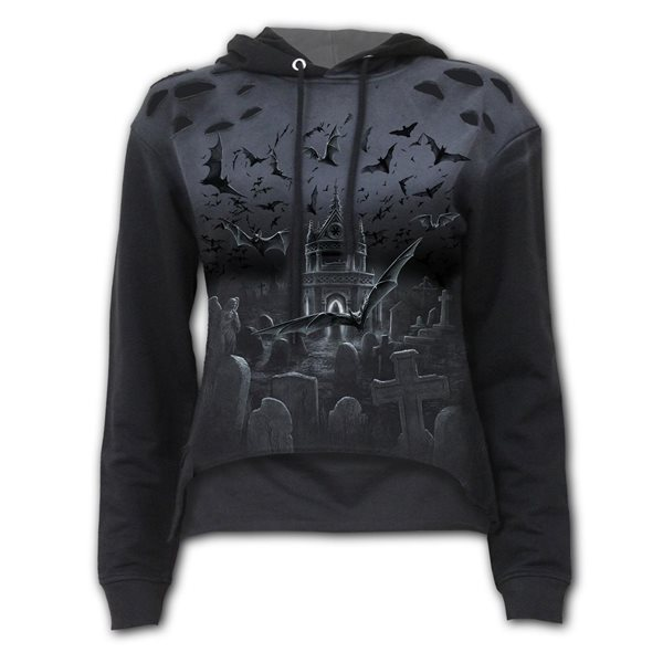 Nightshift - Distressed Spray On Ladies Hoody