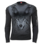 Shadow Wolf - Distressed Spray On Long Sleeve