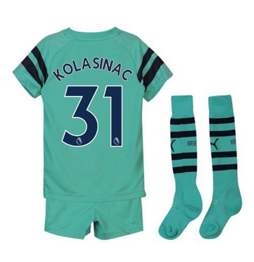 on sale 5adbc d4404 2018-2019 Arsenal Third Little Boys Mini Kit (Kolasinac 31)