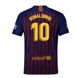 2018-2019 Barcelona Home Nike Football Shirt (Ronaldinho 10)