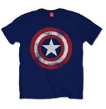 MARVEL: Captain America - Distressed Shield T-shirt (Unisex)