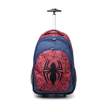 MARVEL COMICS Ultimate Spider-man Logo Trolley Backpack, Unisex, Red/Blue
