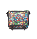 MARVEL COMICS All-over Comic Style Messenger Bag, Unisex, Black