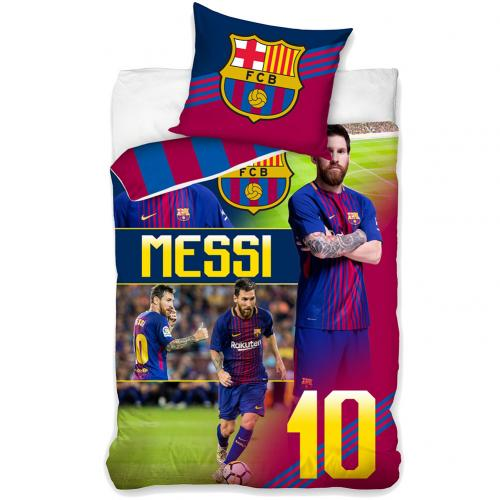 Official F C Barcelona Single Duvet Set Messi Buy Online