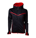 ASSASSIN'S CREED Odyssey Technical Dark Full Length Zipper Hoodie, Female, Medium, Black/Red