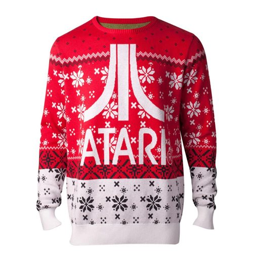 ATARI Logo Christmas Knitted Sweater, Male, Large, Multi-colour