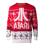 ATARI Logo Christmas Knitted Sweater, Male, Extra Extra Large, Multi-colour