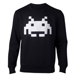 SPACE INVADERS Chenille Invaders Sweater, Male, Medium, Black