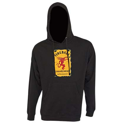 Fireball Bottle Logo Black Hoodie