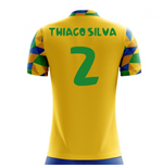 2018-2019 Brazil Home Concept Football Shirt (Thiago Silva 2) - Kids