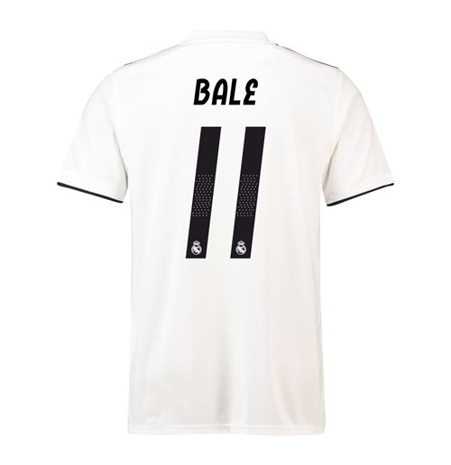 2018-19 Real Madrid Home Football Shirt (Bale 11)