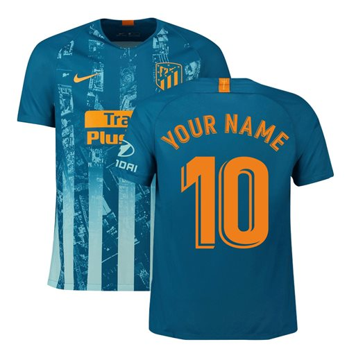 2018-2019 Atletico Madrid Third Nike Football Shirt (Your Name)