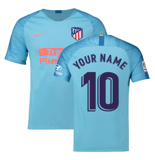2018-2019 Atletico Madrid Away Nike Football Shirt (Your Name)