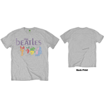 The Beatles Men's Tee: White Album Back (Back Print)