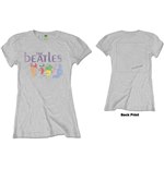 The Beatles Ladies Tee: White Album Back (Back Print)