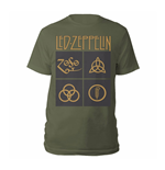 Led Zeppelin T-shirt Gold Symbols & Black Squares
