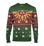 NINTENDO Legend of Zelda Golden Royal Hyrule Crest Christmas Knitted Sweater, Male, Extra Large, Multi-colour