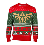 NINTENDO Legend of Zelda Royal Hyrule Crest Christmas Knitted Sweater, Male, Large, Multi-colour