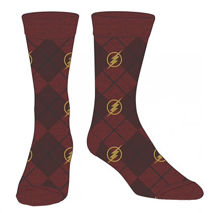 FLASH Logo Red Dress Socks