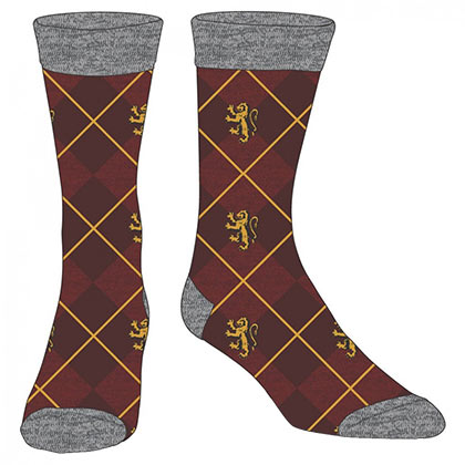 HARRY POTTER Gryffindor Maroon Dress Socks
