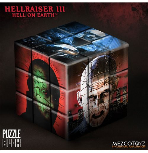 Hellraiser III Puzzle Blox Puzzle Cube Pinhead 9 cm