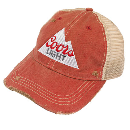 COORS Light Retro Brand Burnt Orange Mountain Logo Hat