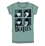 Foiled Framed Faces Grey The Beatles Women's T-shirt