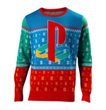 SONY Playstation Tokio Christmas Knitted Sweater, Unisex, Extra Large, Multi-colour