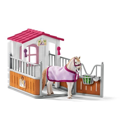SCHLEICH Horse Club Horse Stall with Lusitano Mare Horse Toy Figure