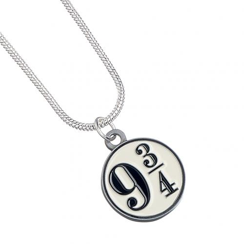 Harry Potter Silver Plated Necklace 9 & 3 Quarters