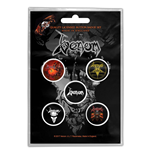 Venom Button Badge Pack: Black Metal