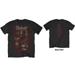 Slipknot Men's Tee: Sketch Boxes (Back Print)