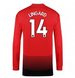 2018-2019 Man Utd Adidas Home Long Sleeve Shirt (Lingard 14) - Kids