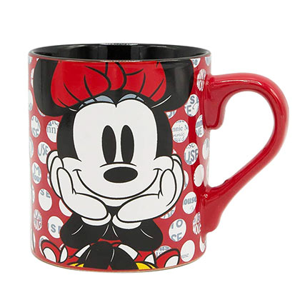 Minnie Mouse Smiling Polka Dot 14 Ounce Mug