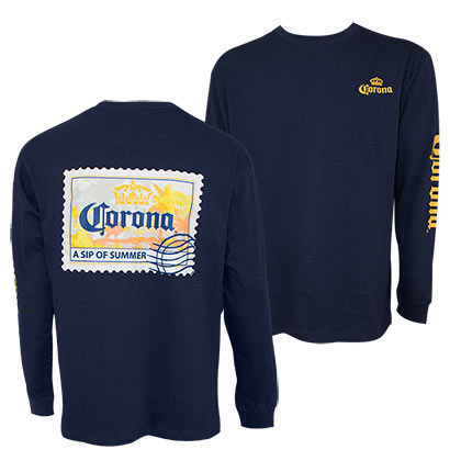 Corona Relax Responsibly Postcard Long Sleeve Shirt
